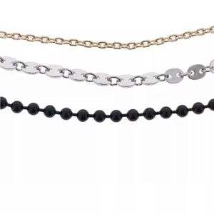 NEW Steve Madden 3PC Chain Necklace Choker Set
